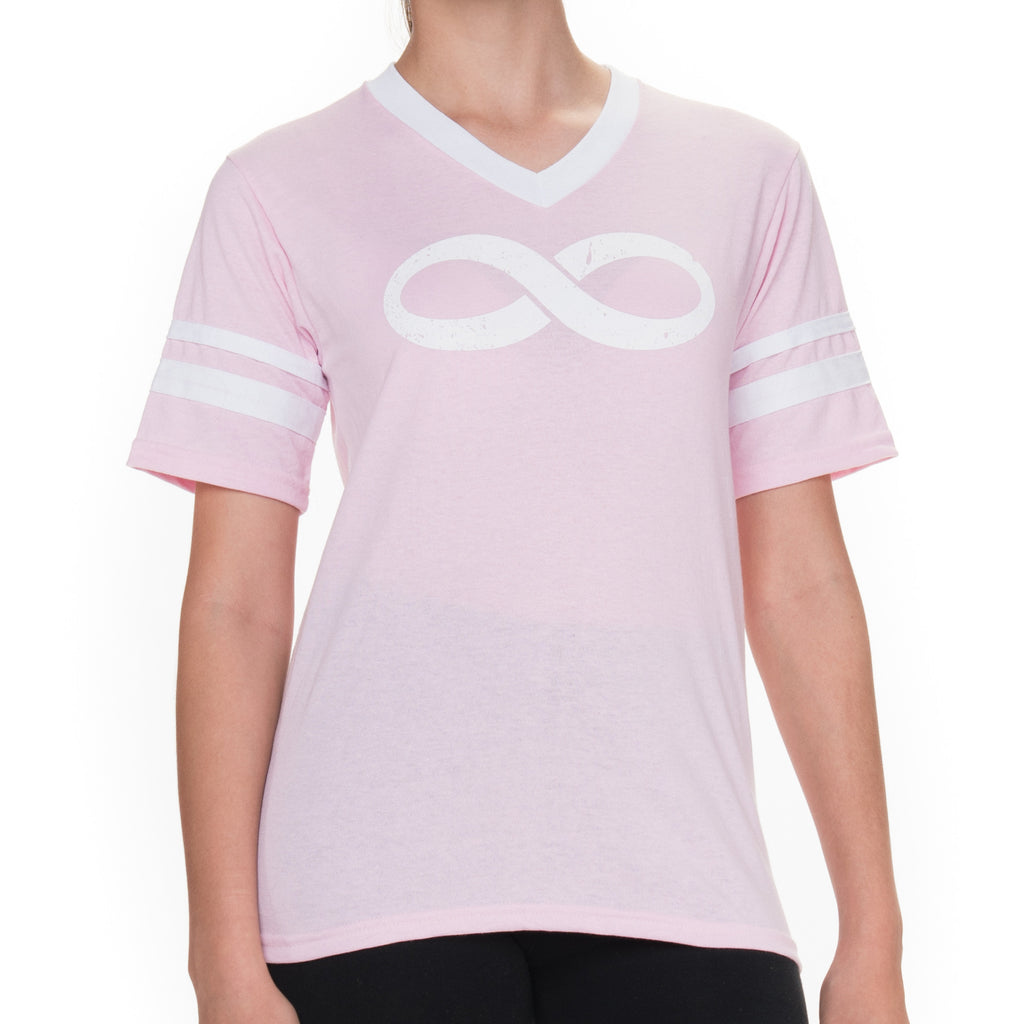Girls Infinity Jersey Short Sleeved Graphic T-Shirt - Pink