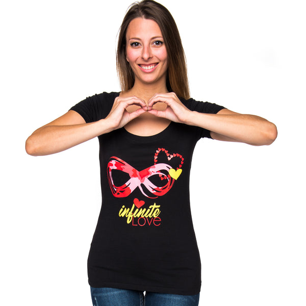 Infinite Love Ladies Scoop Neck Graphic T Shirt