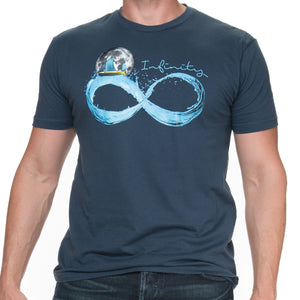 Men's Infinite Moon Indigo Short Sleeve T Shirt