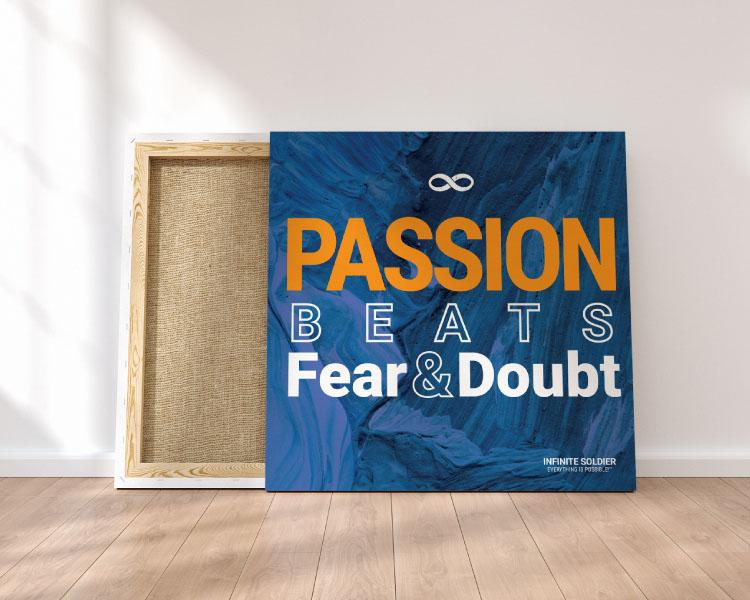Passion Square Mounted Canvas Poster