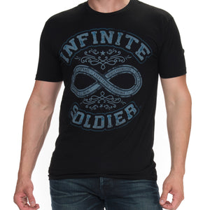 Path to Infinity Men's Short Sleeve Graphic T-Shirts - Black