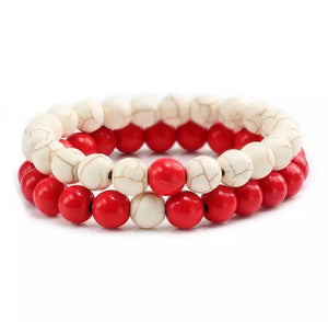 Colorful Beads Bracelet Natural Stone Strand Yoga Bracelets