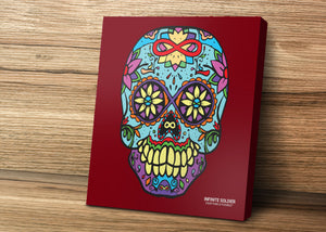 Infinity Sugar Skull Art Mounted Canvas Prints