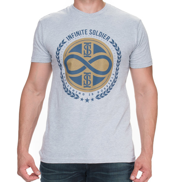 Infinity Stamp Heather Gray Short Sleeved Men's Graphic Tee