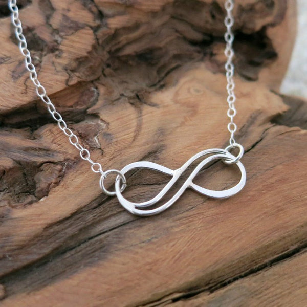Double Wire Infinity Symbol Silver Pendant Necklace Www