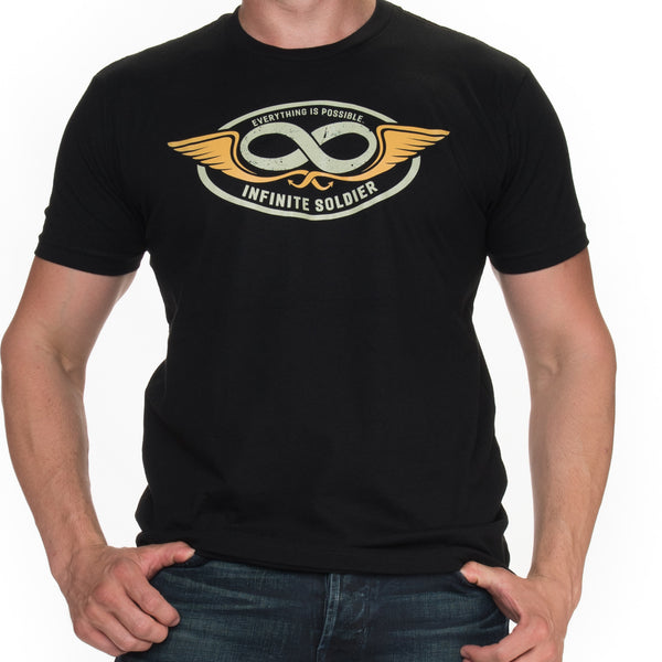Men's Infinity Wings Short Sleeve T-Shirt - Black