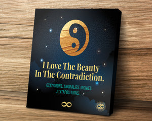 'Beauty In Contradiction' Mounted Canvas Poster Wall Art
