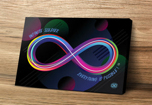 "Neon Infinity 16"" x 24"" Mounted Canvas Print"