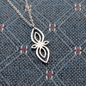 Celtic Sister Knot Silver Infinity Pendant