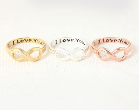 Infinity I Love You Knuckle Rings in Gold, Silver and Rose Gold