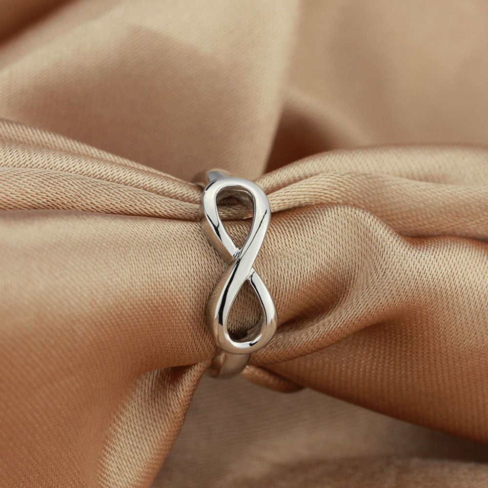 Genuine 925 Sterling Silver Infinite Love Ring