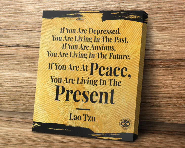 Motivational Quote Canvas Poster Art Print - Lao Tzu