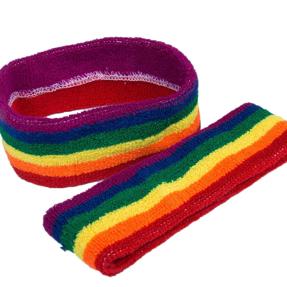 rainbow striped headband LGBT pride