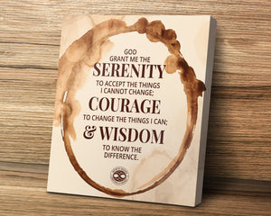 Serenity Prayer Motivational Canvas Poster