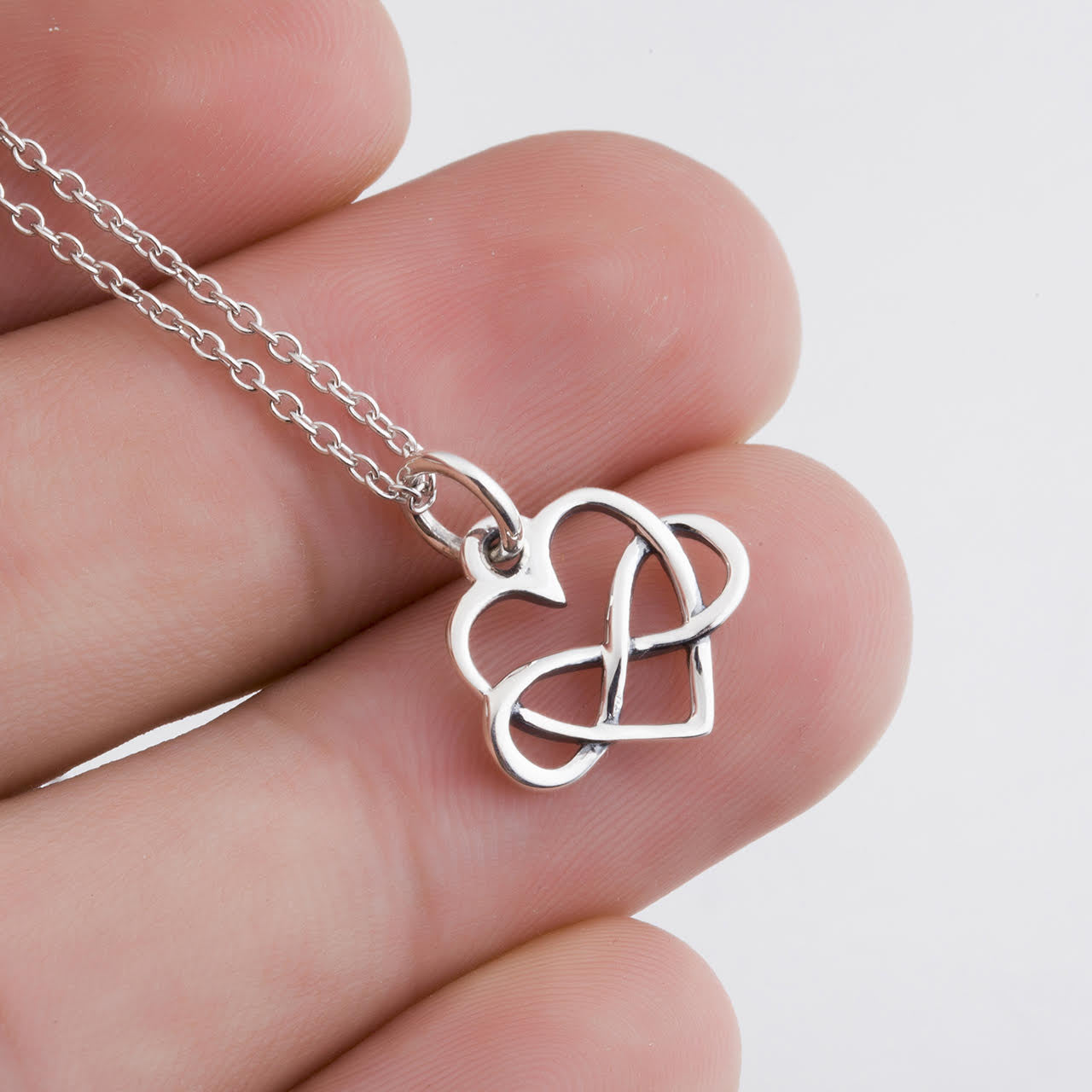 sterling love infinite silver necklace dogeared infinity sign