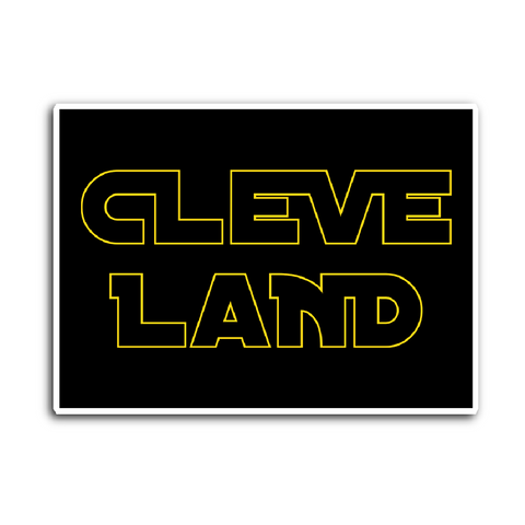 Cleveland Star Wars Inspired Sticker - We Heart OHIO