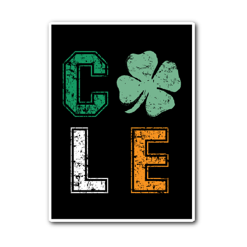 CLE Shamrock Sticker - We Heart OHIO