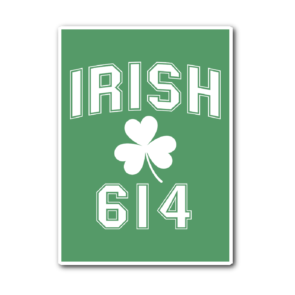 Irish 614 Sticker - We Heart OHIO