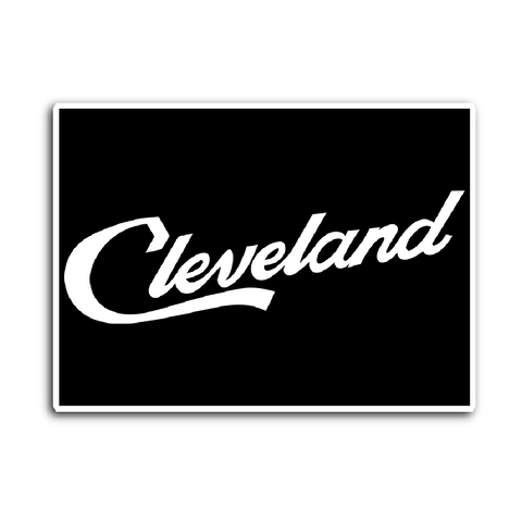 Cleveland Script Sticker - We Heart OHIO