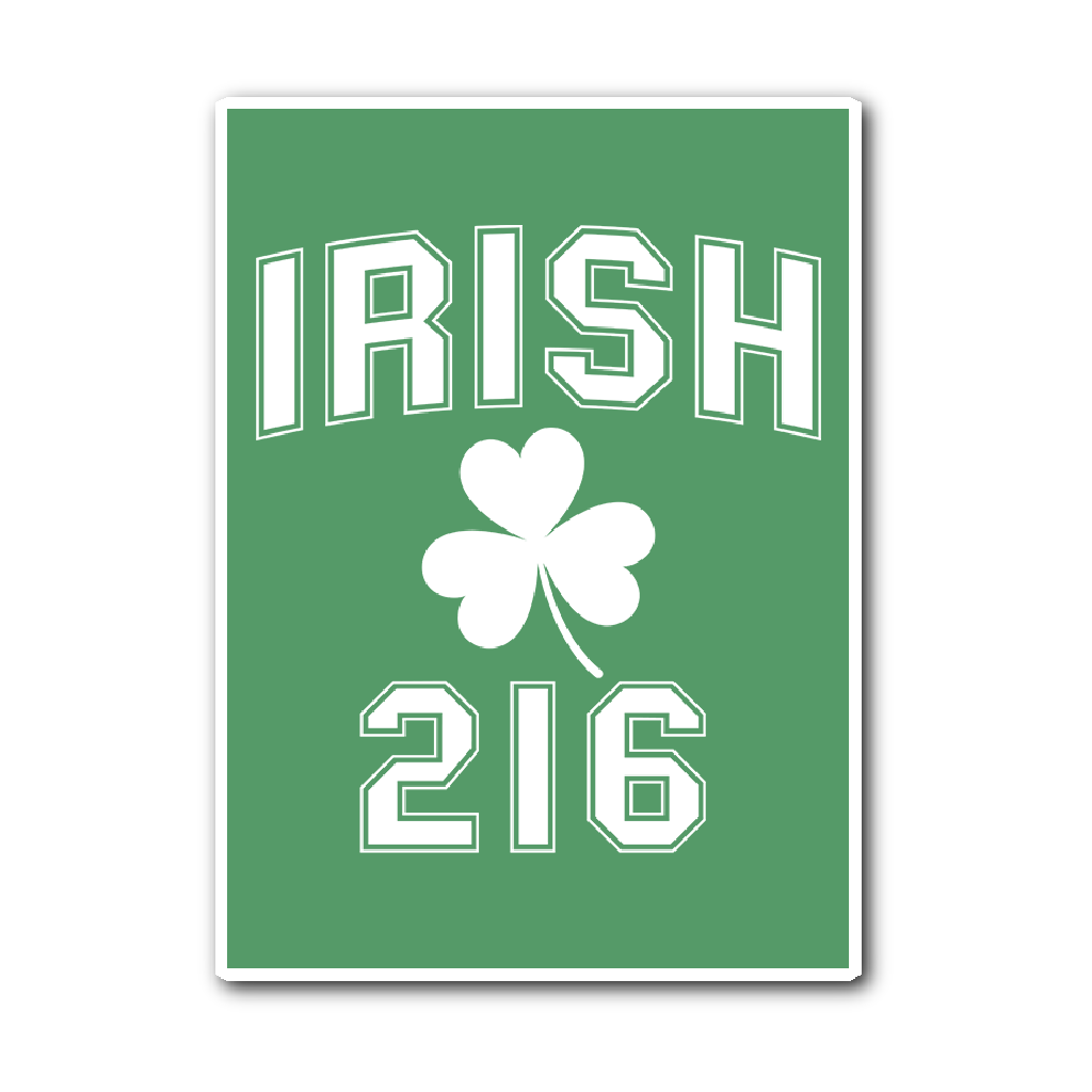 Irish 216 Sticker - We Heart OHIO