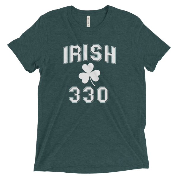 Irish 330 Area Code St. Patrick's Day T-Shirt - We Heart OHIO