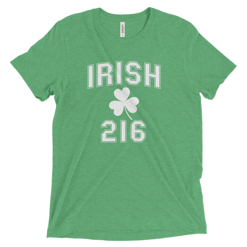 Irish 216 Area Code St. Patrick's Day T-Shirt - We Heart OHIO