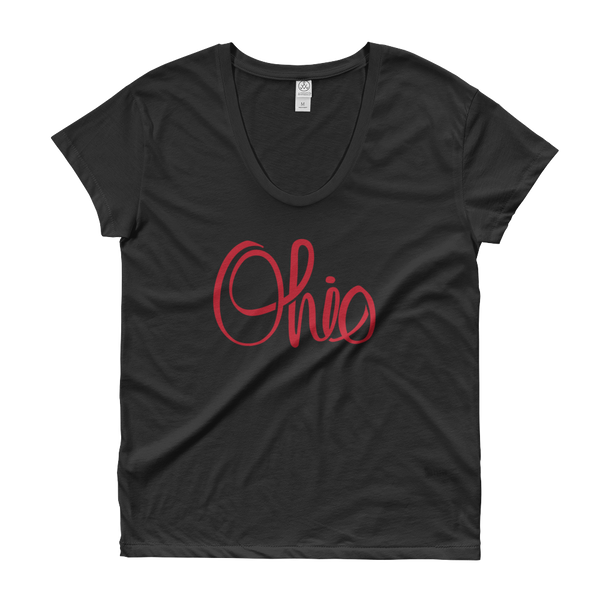 Script Ohio - Women's Scoop Neck - We Heart OHIO