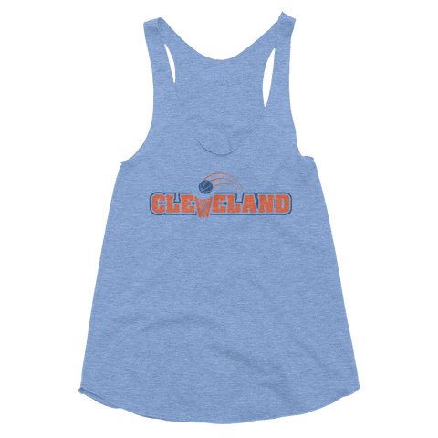 Cleveland Basketball Throwback - Women's Tank - We Heart OHIO