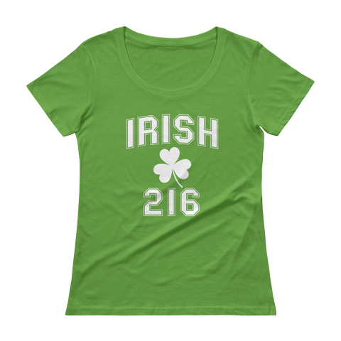 Irish 216 Ladies' Scoopneck T-Shirt - We Heart OHIO