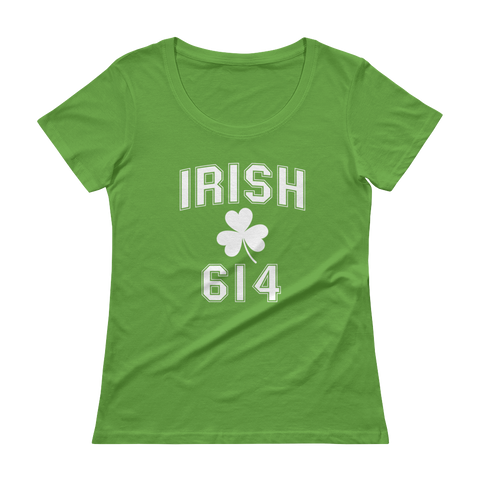 Irish 614 Columbus Ladies' Scoopneck T-Shirt - We Heart OHIO