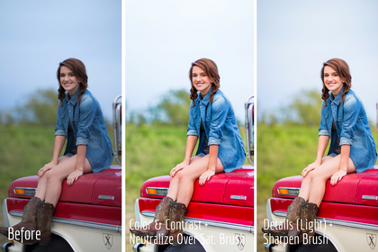 Comparing Essentials LR adjustment brushes