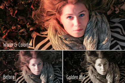 Warm & Colorful vs Golden BW presets