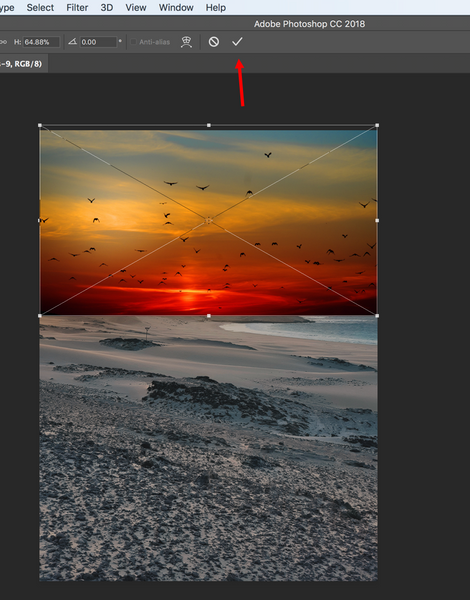 Save Photoshop overlay as a layer