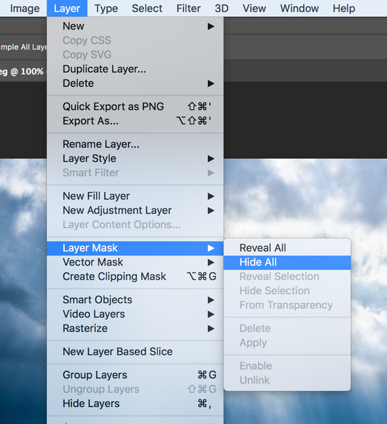 Create a layer mask in Photoshop