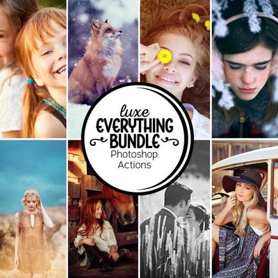 [Bundle] Luxe Everything for Photoshop — All Photoshop Actions (8 Action Collections)