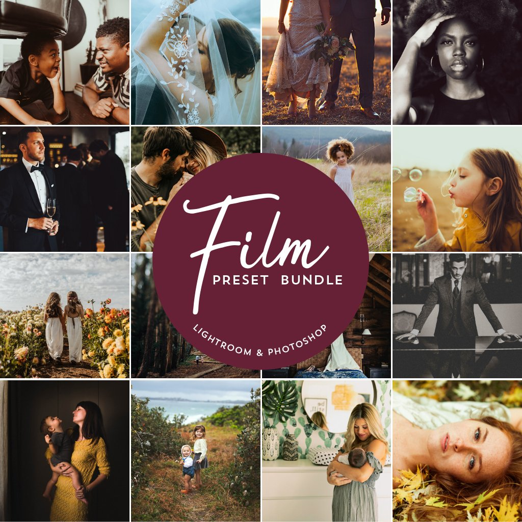 Film Preset Bundle (16 collections) for Lightroom & Photoshop