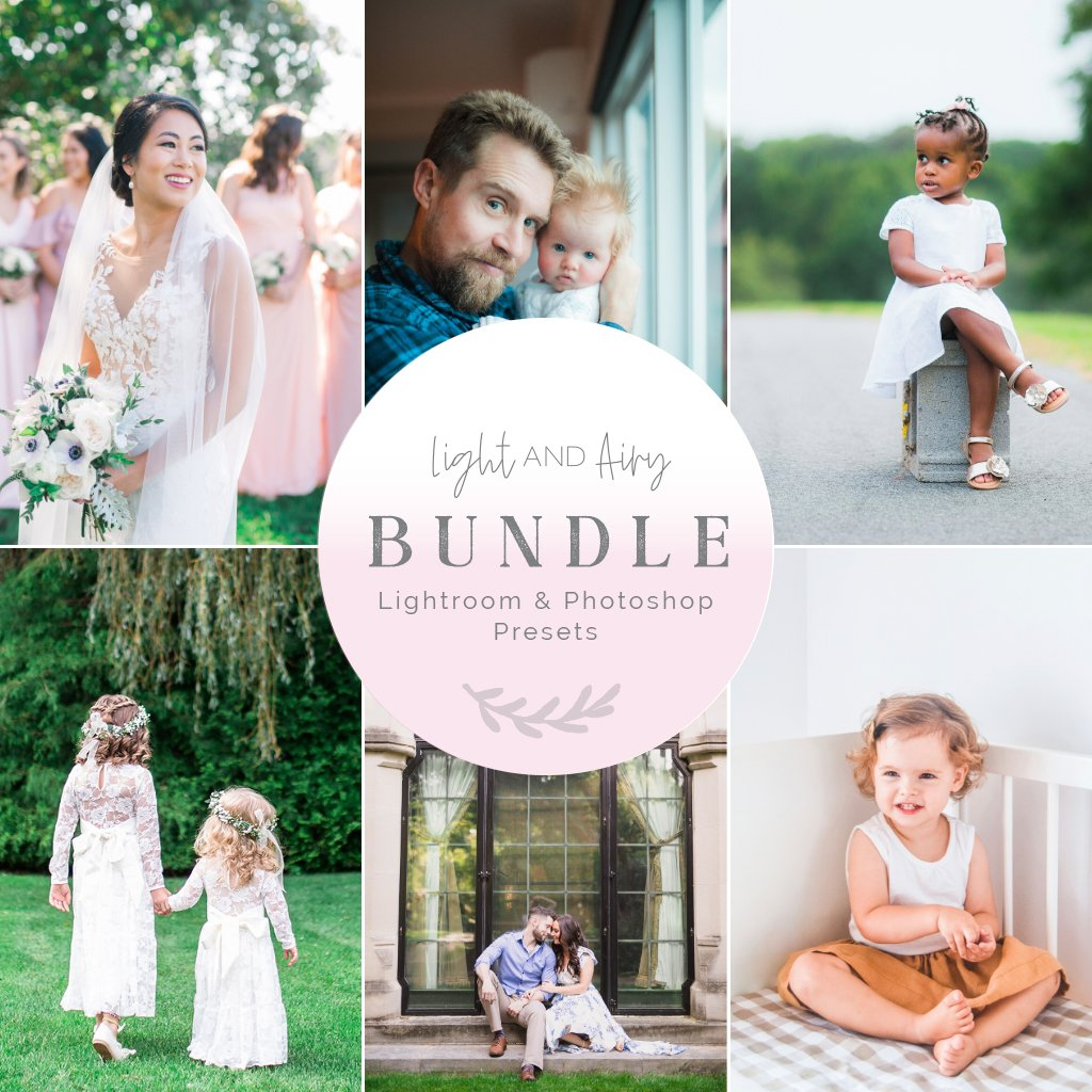Light & Airy Preset Bundle (5 collections) for Lightroom & Photoshop