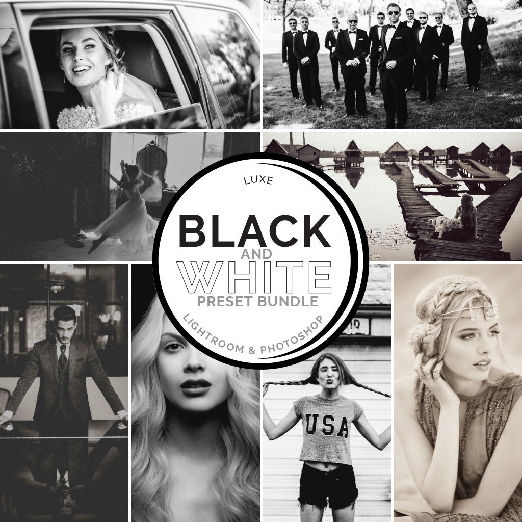 Black & White Preset Bundle (4 collections) for Lightroom & Photoshop