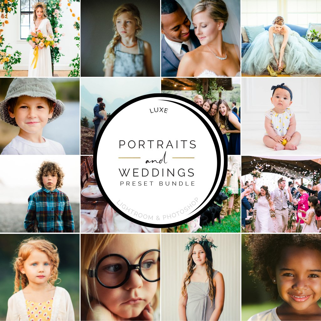 Portraits and Weddings Preset Bundle (16 collections) for Lightroom & Photoshop