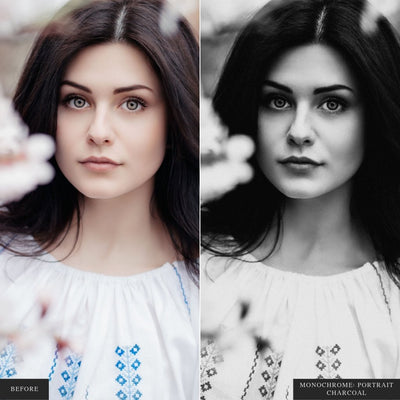 Monochrome Portraits Lightroom Presets