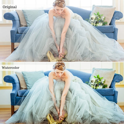 Bride photo enhanced with Luxe wedding bundle