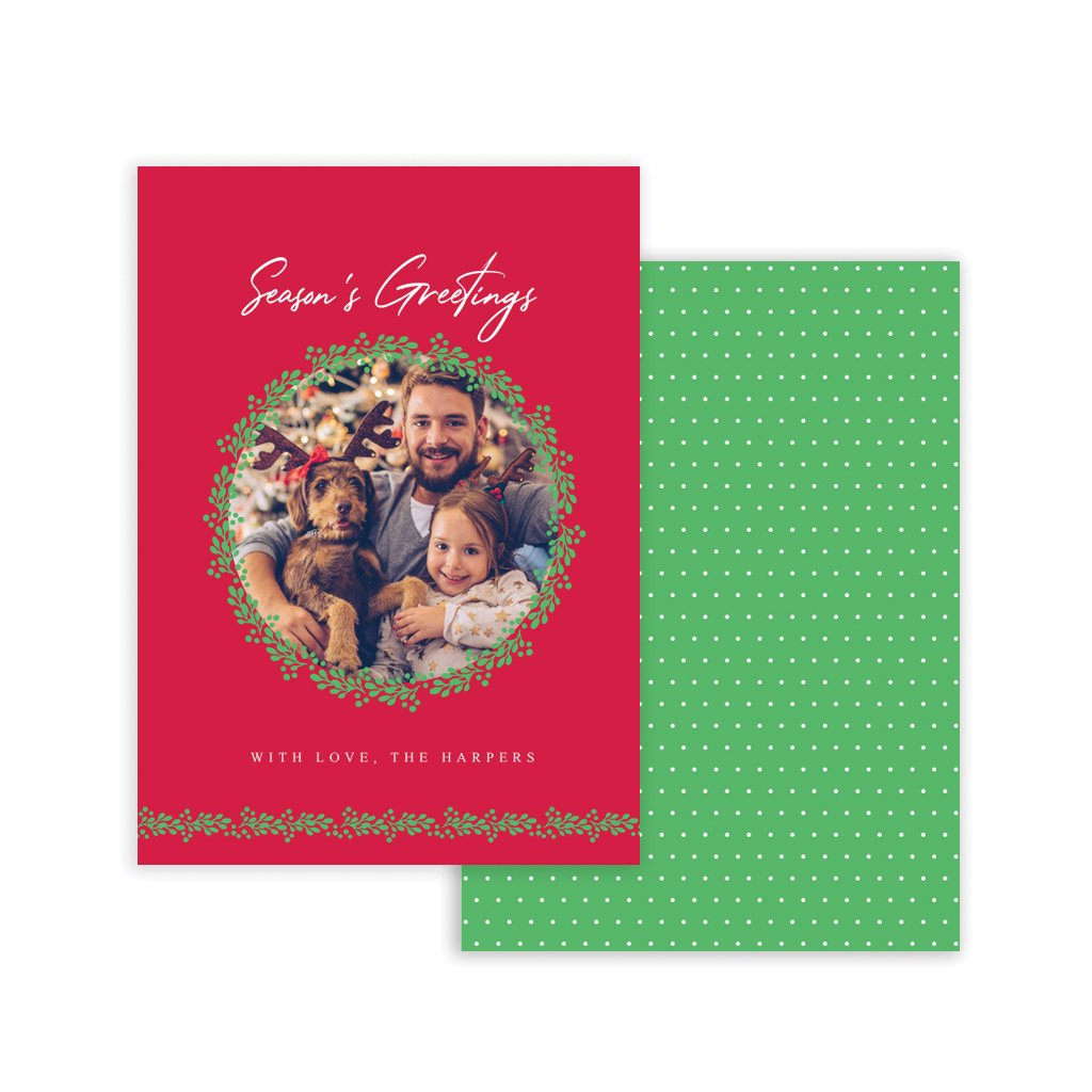 Holiday Card Template - Season's Greetings