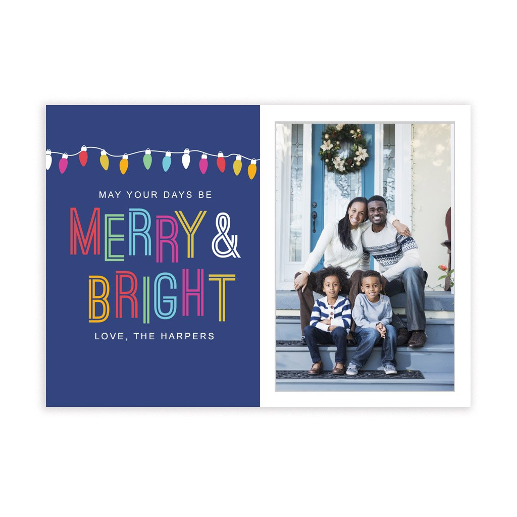 Holiday Card Template - Merry & Bright