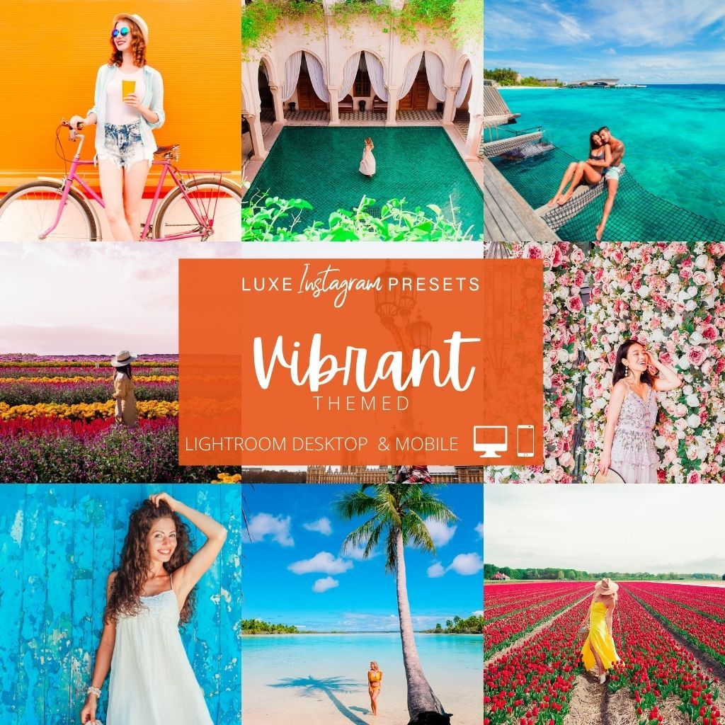 Vibrant Themed Lightroom Presets for Instagram – Desktop & Mobile