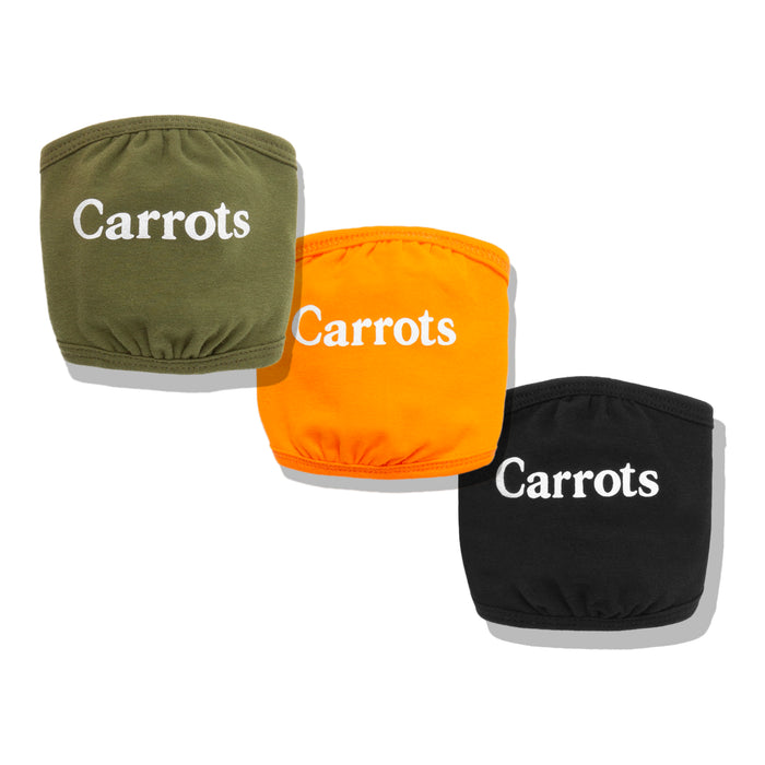 Carrots Wordmark Face Mask