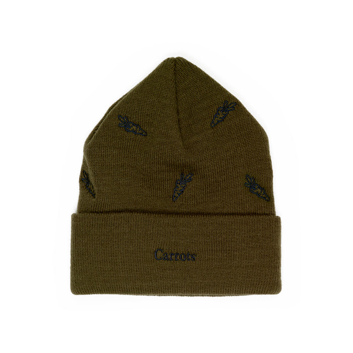 ALL OVER CARROT BEANIE - OLIVE