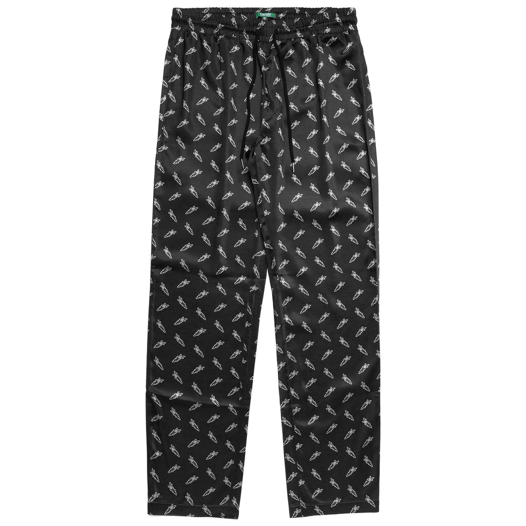 ALL OVER CARROTS PAJAMA SET - BLACK