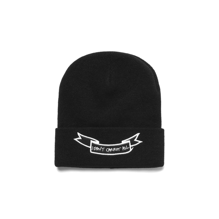 CARROTS X DEER DANA I DON'T CARROT BEANIE - BLACK