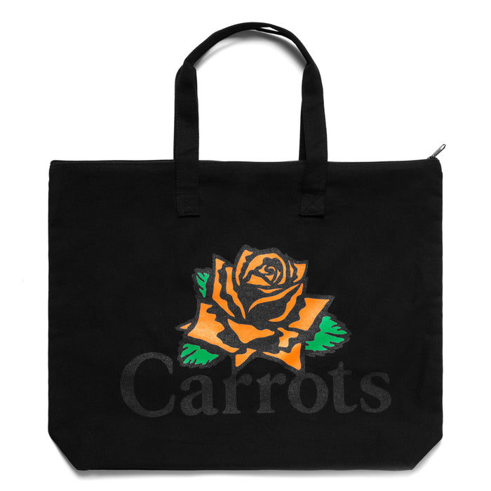 ROSE WORDMARK TOTE BAG - BLACK