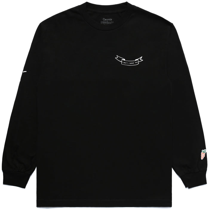 CARROTS X DEER DANA I DON'T CARROT LONG SLEEVE - BLACK